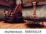 Stairs  Piano And A Table In A...