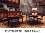Wooden Interior Of A Wild West...