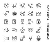 communication and phone icon...   Shutterstock . vector #508553641