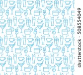 seamless pattern with icons of ... | Shutterstock . vector #508554049