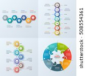 set of 4 business infographic... | Shutterstock .eps vector #508554361
