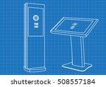 blueprint of promotional...   Shutterstock .eps vector #508557184