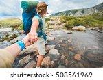 strong and romantic traveler... | Shutterstock . vector #508561969