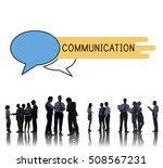 discussion communication advice ... | Shutterstock . vector #508567231