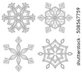 Zentangle Winter Snowflakes Se...