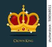 crown of king or queen ... | Shutterstock .eps vector #508568011