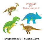 cartoon dinosaur or reptile... | Shutterstock .eps vector #508568395