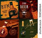 alcohol bottles poster... | Shutterstock .eps vector #508568464