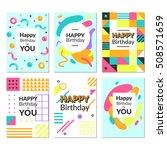 birthday greeting card...   Shutterstock .eps vector #508571659
