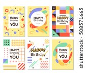 birthday greeting card... | Shutterstock .eps vector #508571665
