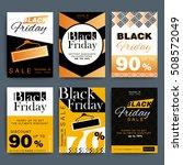 black friday creative social... | Shutterstock .eps vector #508572049