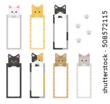cute cat bookmark paper... | Shutterstock .eps vector #508572115