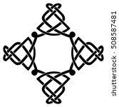 vector template celtic knot for ... | Shutterstock .eps vector #508587481
