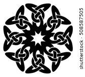 vector template celtic knot for ... | Shutterstock .eps vector #508587505
