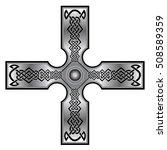 celtic cross for tattoo or... | Shutterstock .eps vector #508589359