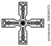celtic cross tattoos.celtic... | Shutterstock .eps vector #508589371