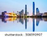 modern urban night view  pearl... | Shutterstock . vector #508593907