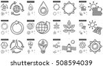 ecology vector line icon set... | Shutterstock .eps vector #508594039