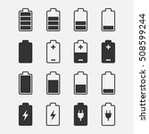 battery icons vector set of... | Shutterstock .eps vector #508599244