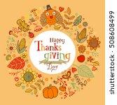 thanksgiving poster or greeting ... | Shutterstock .eps vector #508608499