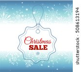 christmas sale. vector... | Shutterstock .eps vector #508613194