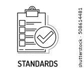 standards line icon   Shutterstock .eps vector #508614481