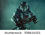 Futuristic Soldier In Steel...