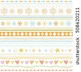 seasonal ornaments. doodle... | Shutterstock .eps vector #508620211