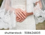 brides hand with a manicure and ... | Shutterstock . vector #508626835
