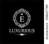 luxury logo template in vector... | Shutterstock .eps vector #508627789