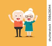 retired elderly senior age... | Shutterstock .eps vector #508628044
