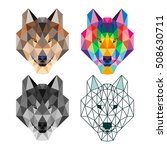 polygon animal pet polygonal... | Shutterstock .eps vector #508630711