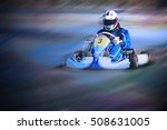 karting   driver in helmet on... | Shutterstock . vector #508631005