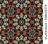 bright mandala pattern.... | Shutterstock .eps vector #508633279