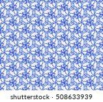 floral vector blue and white...