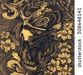 lady in the stylized roman... | Shutterstock . vector #508648141