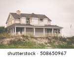 a house with hurricane shutters ... | Shutterstock . vector #508650967