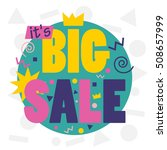 big sale banner template | Shutterstock .eps vector #508657999