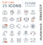 set vector line icons in flat... | Shutterstock .eps vector #508665319