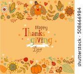 thanksgiving poster or greeting ... | Shutterstock .eps vector #508666984