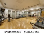 interior home gym in an... | Shutterstock . vector #508668451