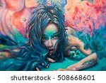 detail shot of surreal acrylic... | Shutterstock . vector #508668601