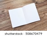 open brochure  magazine on a... | Shutterstock . vector #508670479