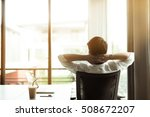 young businessman relaxing at... | Shutterstock . vector #508672207