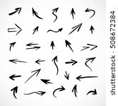 hand drawn arrows  vector set | Shutterstock .eps vector #508672384