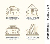 abstract real estate logo set | Shutterstock . vector #508674175