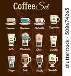 vector set a variety of coffee... | Shutterstock .eps vector #508674265