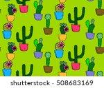 pattern of cactus.cactus...   Shutterstock .eps vector #508683169