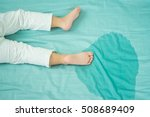 kid's feet and pee in a... | Shutterstock . vector #508689409