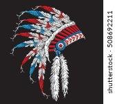 indian tribal typography  t... | Shutterstock .eps vector #508692211